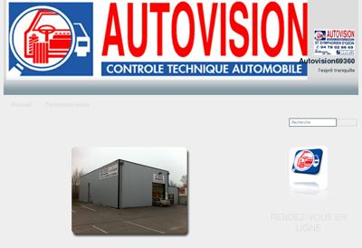 Capture d'écran du site de Miroiterie du Lot