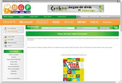 Site internet de Mister Game Price