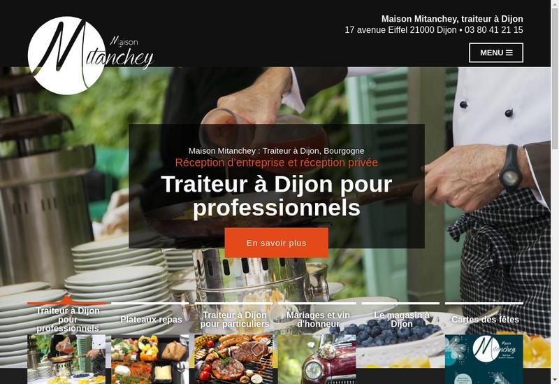 Capture d'écran du site de Mitanchey Traiteur