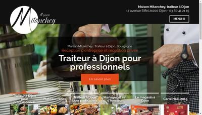 Site internet de Mitanchey Traiteur