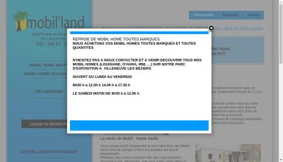 Capture d'écran du site de SARL Mobil Land