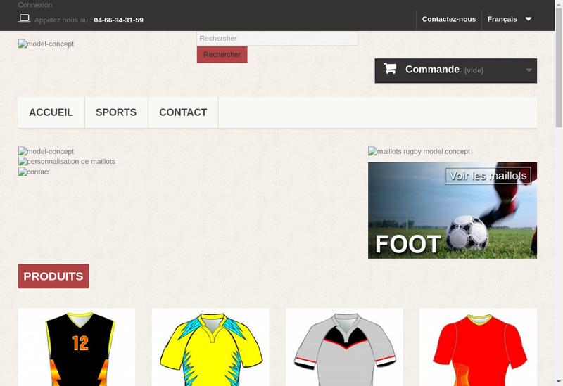 Capture d'écran du site de Model Concept