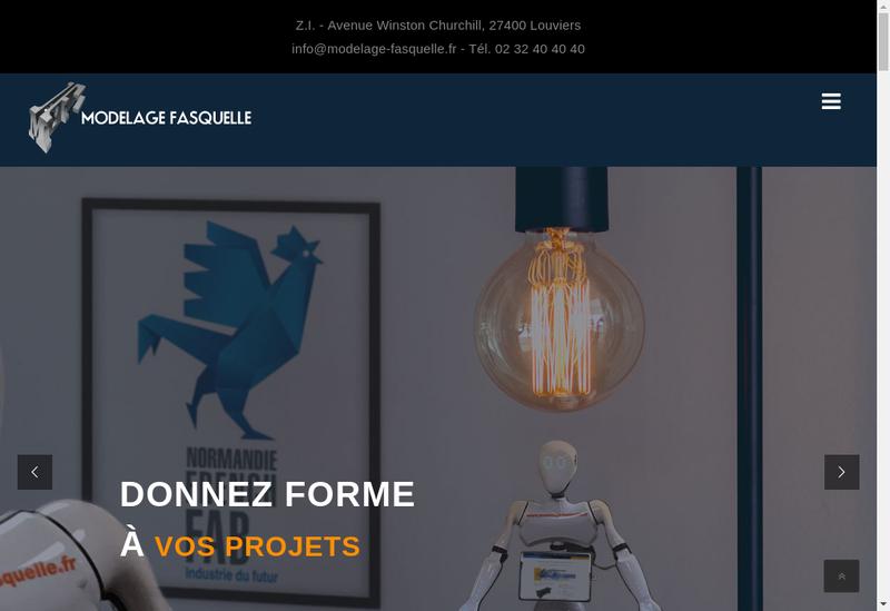 Capture d'écran du site de Modelage Fasquelle