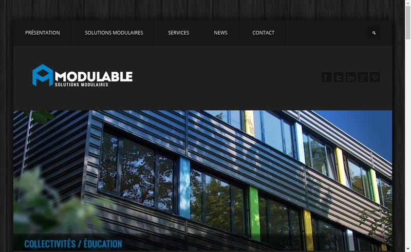 Capture d'écran du site de Modulable