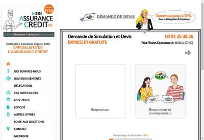 Site internet de Mon Assurance Credit