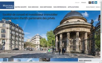 Site internet de Monceau Invest