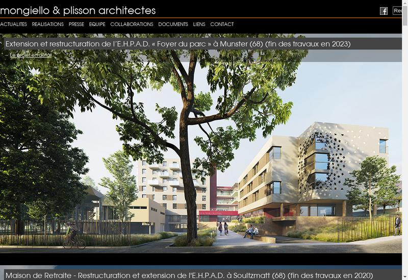 Capture d'écran du site de Mongiello & Plisson