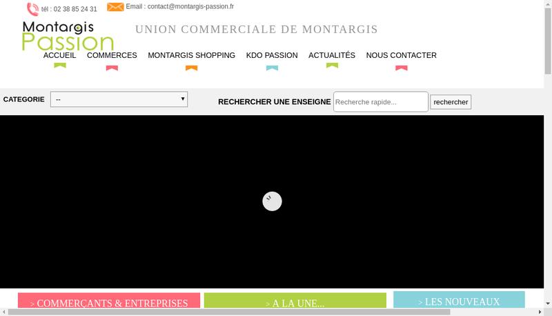Capture d'écran du site de Union Commerciale de Montargis