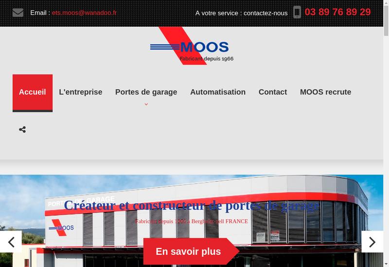 Capture d'écran du site de Etablissements à Moos