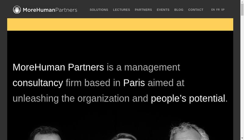 Capture d'écran du site de Morehuman Holding