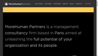 Site internet de Morehuman Partners