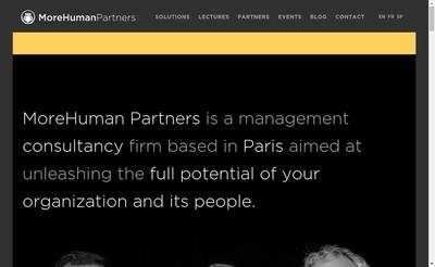 Site internet de Morehuman Holding