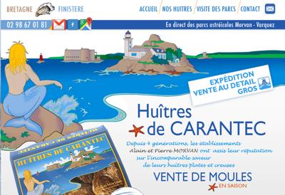 Capture d'écran du site de EARL Varquez Ets Morvan