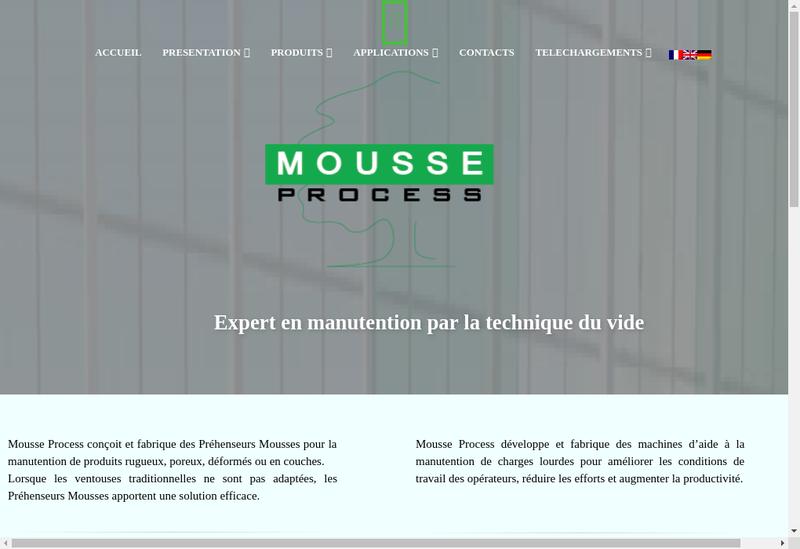 Capture d'écran du site de Mousse Process