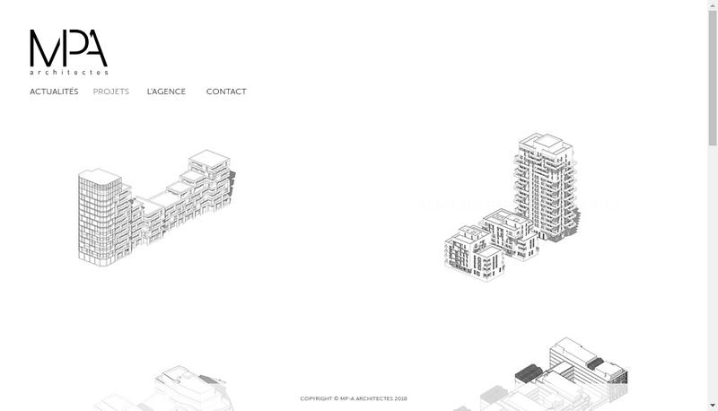 Capture d'écran du site de Marina Projets et Architecture