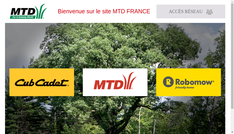 Capture d'écran du site de Mtd France