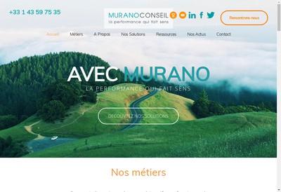 Site internet de Murano Conseil
