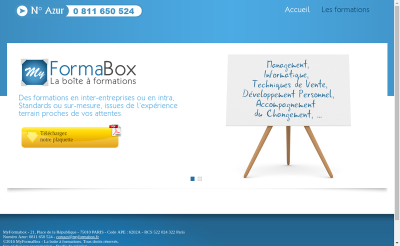 Site internet de La Boite a Formation