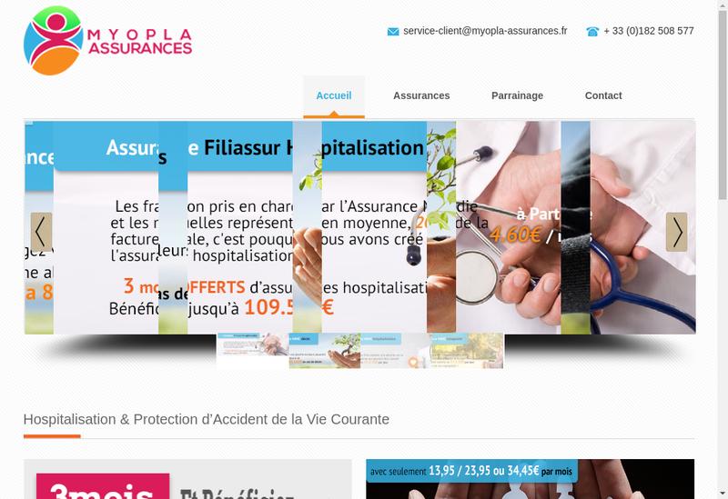 Capture d'écran du site de Myopla