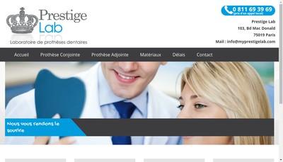 Site internet de Prestige Lab