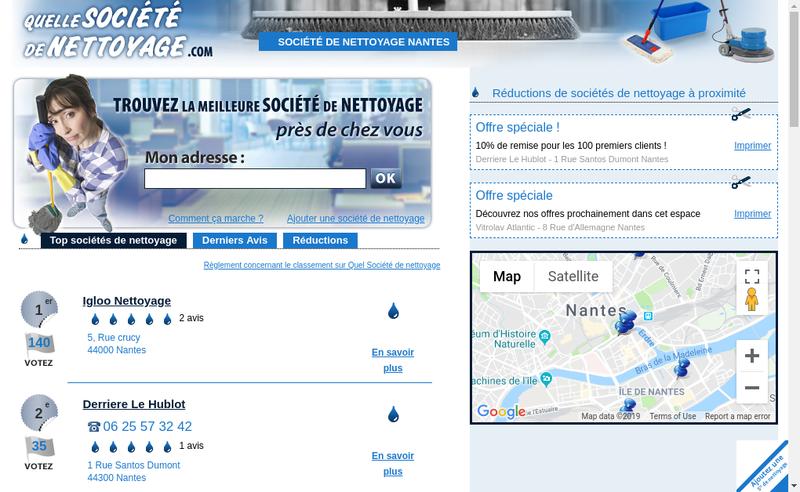 Capture d'écran du site de Thomas Proprete
