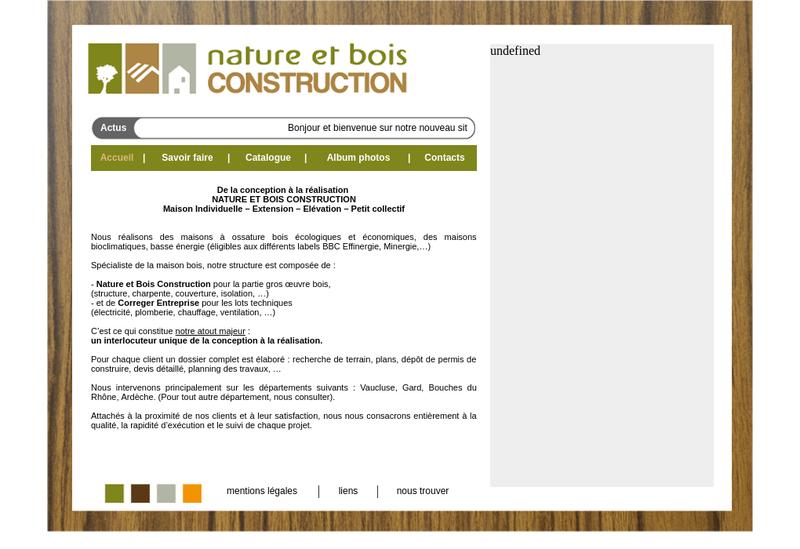 Capture d'écran du site de Mob - Extenbois - Mureno