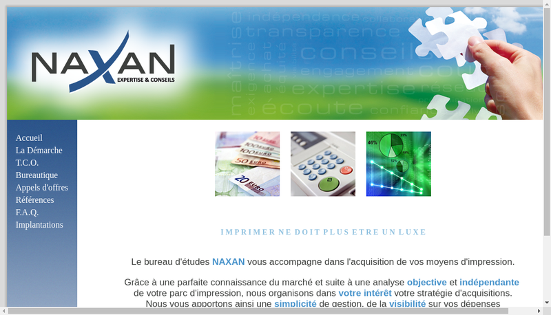 Site internet de Naxan Normandie