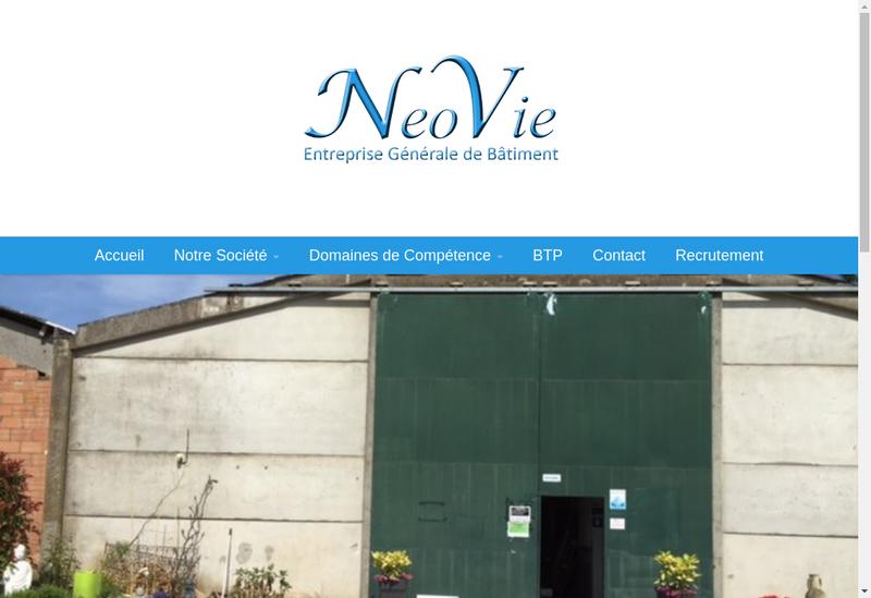 Capture d'écran du site de Neovie