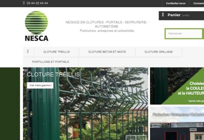 Capture d'écran du site de Nesca