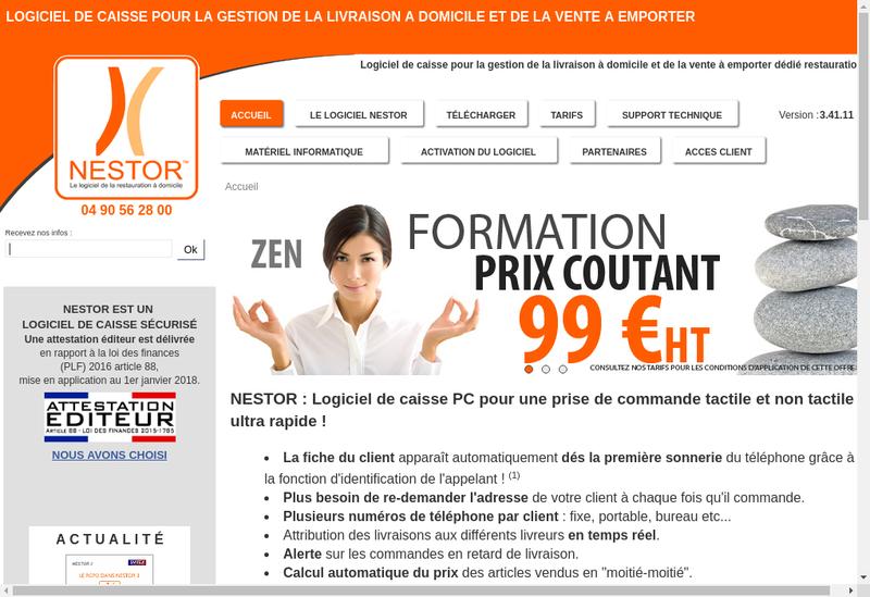 Capture d'écran du site de Svitex