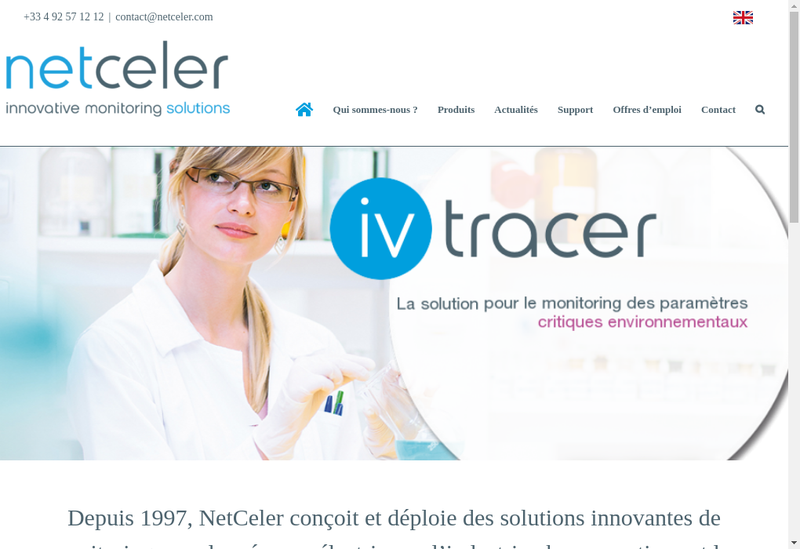 Capture d'écran du site de Intravision Flyserver Flyvision