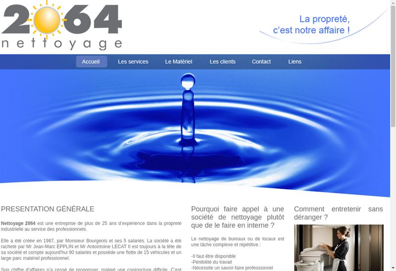 Capture d'écran du site de Nettoyage 2064
