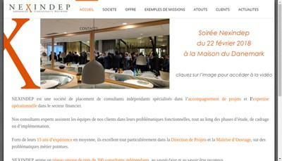 Site internet de Nexindep