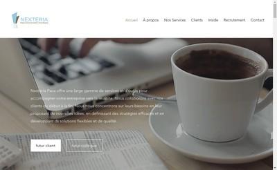 Site internet de Nexteria Paca