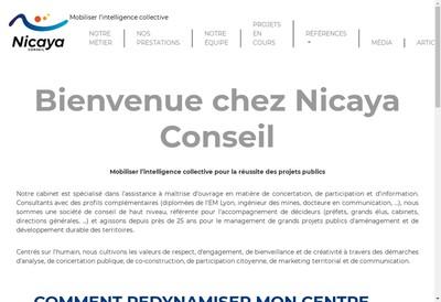Site internet de Nicaya Conseil