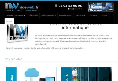 Capture d'écran du site de Niceweb - Fb Media - Creamanta