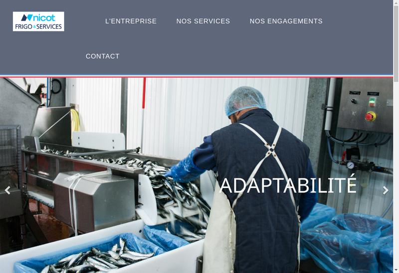 Capture d'écran du site de Nicot Frigorifiques