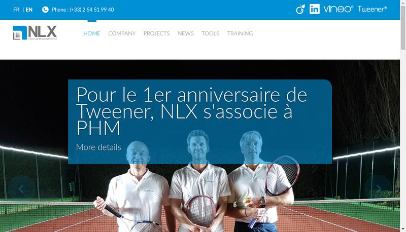 Capture d'écran du site de Neolux
