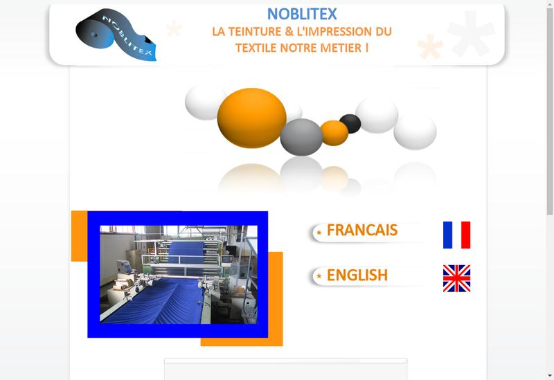 Capture d'écran du site de Noblitex