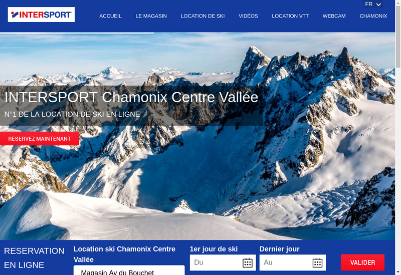 Capture d'écran du site de Intersport