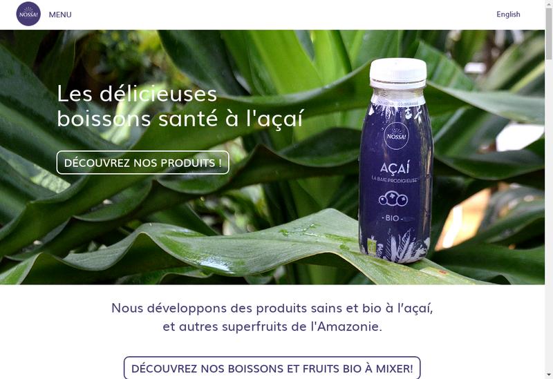 Capture d'écran du site de Nossa ! Fruits