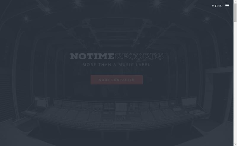 Capture d'écran du site de No Time Records