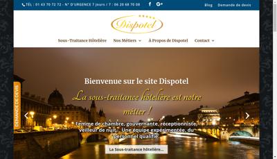 Capture d'écran du site de Dispotel