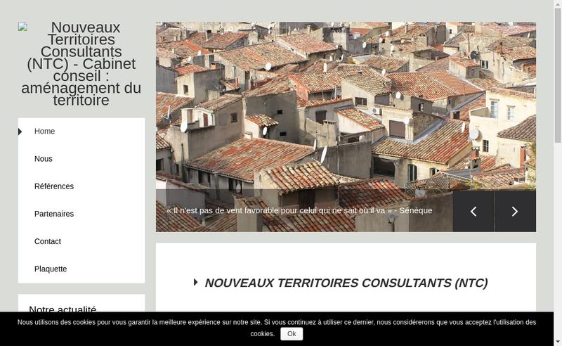 Capture d'écran du site de Nouveaux Territoires