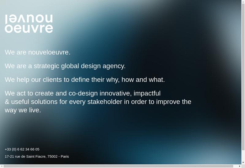 Capture d'écran du site de Nouvel Oeuvre