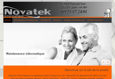 Capture d'écran du site de Act Informatique