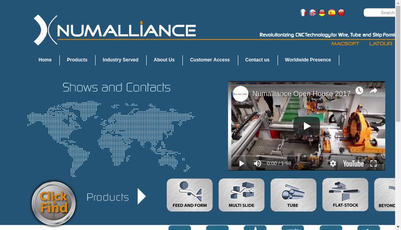 Capture d'écran du site de Numalliance