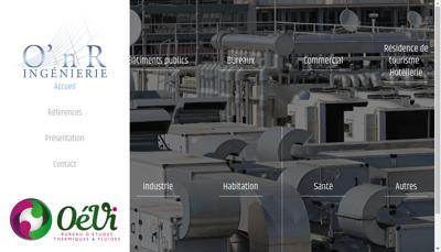Capture d'écran du site de Onr Ingenierie