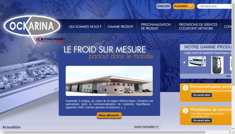 Capture d'écran du site de Ockarina