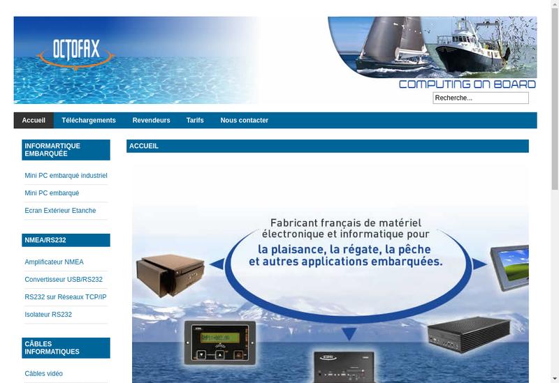 Capture d'écran du site de Octofax